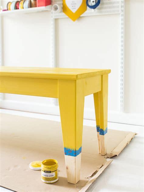 DIY Paint Dipped IKEA NORNÄS Outdoor Bench   Sarah Hearts