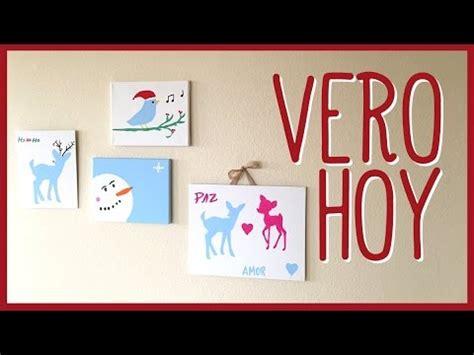 DIY Pintemos nuestros propios cuadros para navidad   YouTube