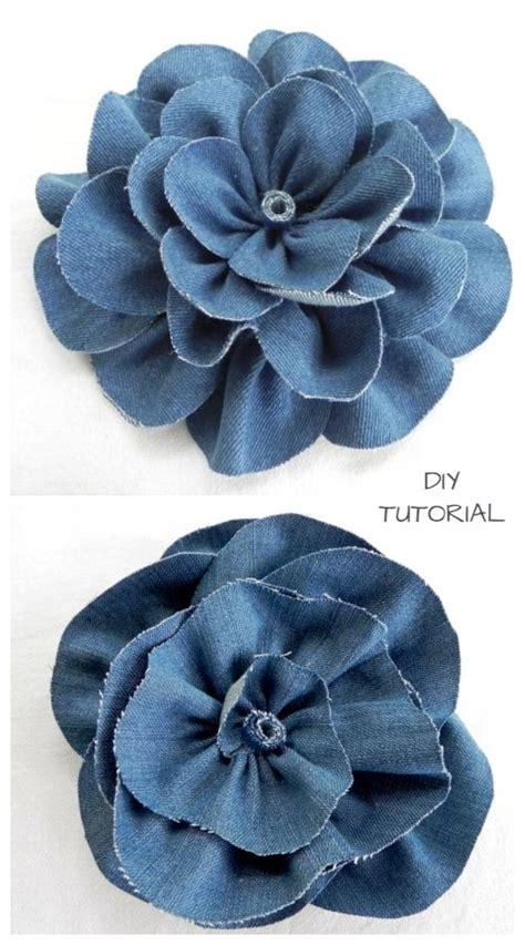 DIY Recycled Denim Jean Rose Flowers Free Sewing Pattern ...