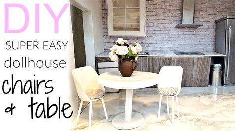 DIY: very easy dollhouse chairs & table   YouTube