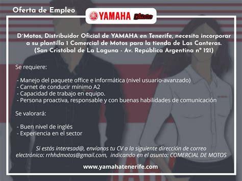DMotos busca comercial para su tienda de Las Canteras  La ...