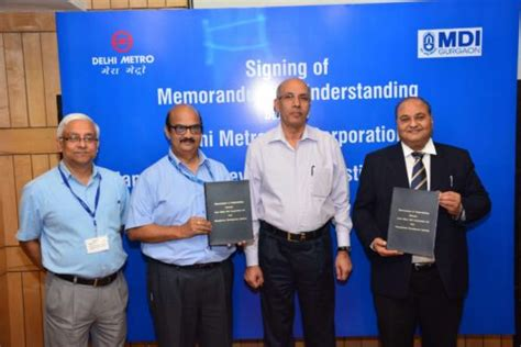 DMRC Signs MOU With MDI Gurgaon For Mutual Sharing Of ...