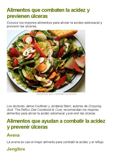 DOC  Alimentos que combaten la acidez y previenen ulceras ...