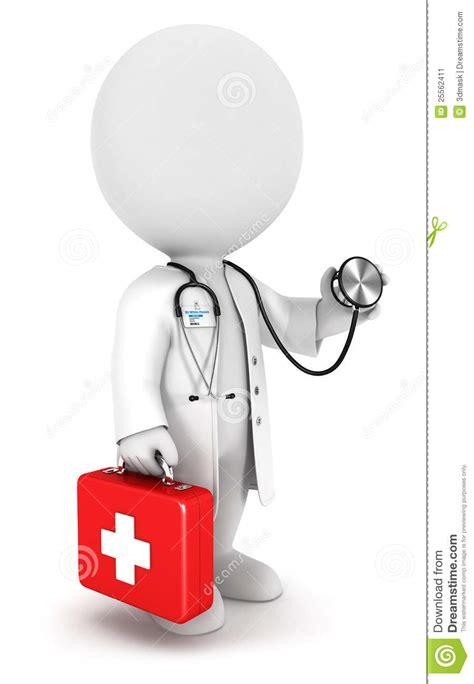 Doctor Blanco De La Gente 3d Stock de ilustración ...