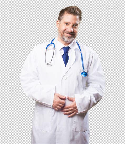 Doctor hombre sobre fondo blanco | Archivo PSD Premium