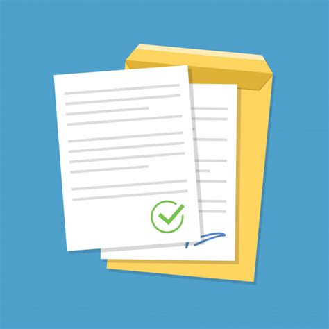 Documentos confirmados o documentos aprobados. | Vector ...