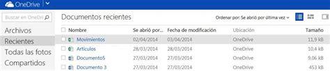 Documentos recientes en OneDrive   Cuenta Outlook