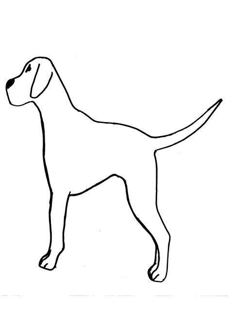 Dog Template For Kids Fingerprint Black Dots On Dalmation ...