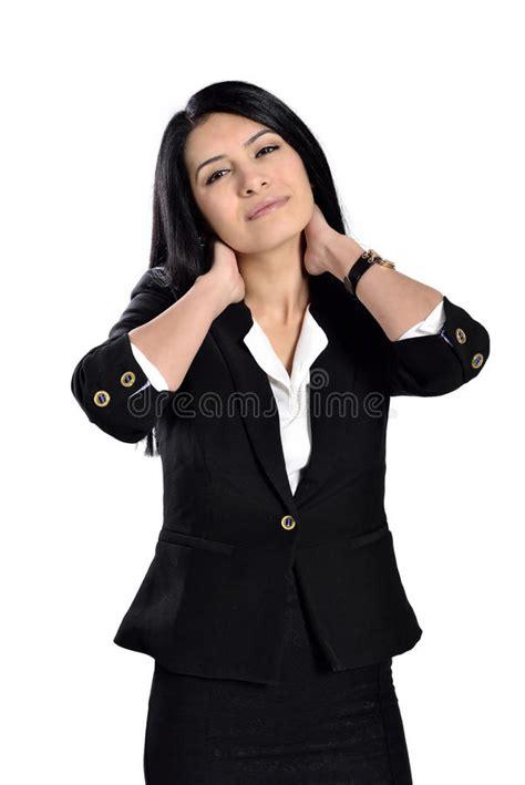 Dolor De Espalda De La Mujer Imagen de archivo   Imagen de ...