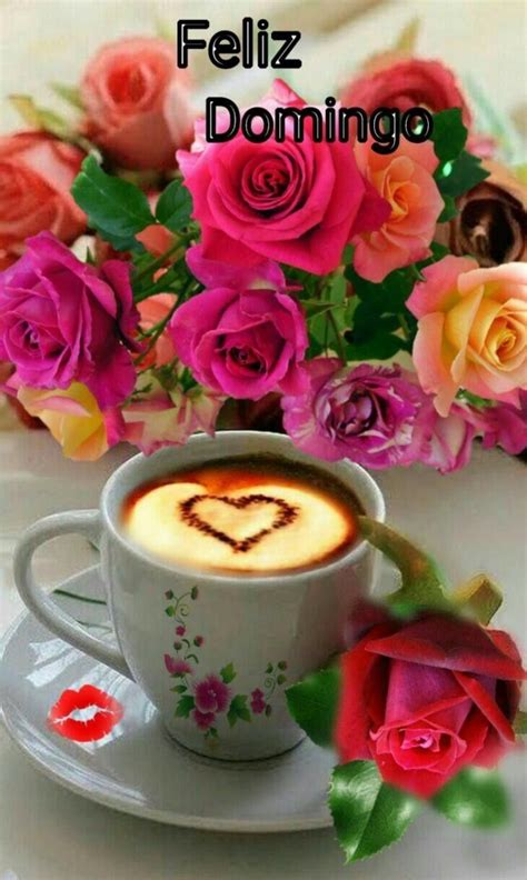 Domingo | Buenos dias con rosas, Flores y cafe, Imágenes ...