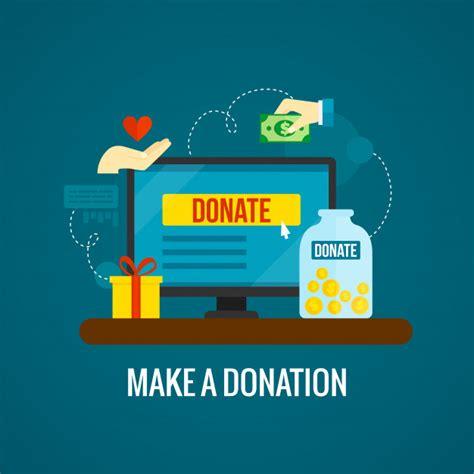 Donaciones online con laptop. | Vector Gratis