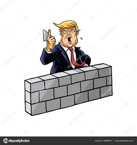 Donald Trump construir un muro — Archivo Imágenes ...