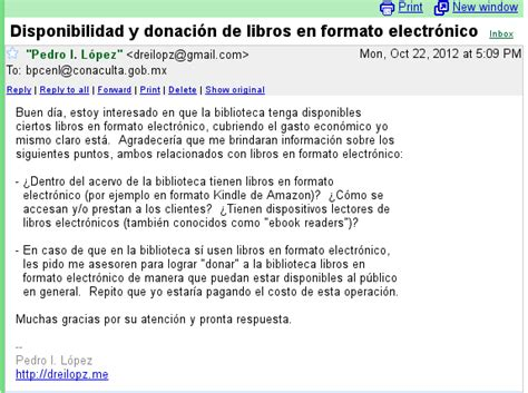 Donando libros en Monterrey – Contacto por correo ...