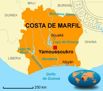 Donde está Costa de Marfil   Donde está