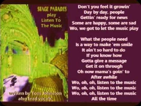 Doobie Brothers   Listen To The Music  + lyrics 1972 ...