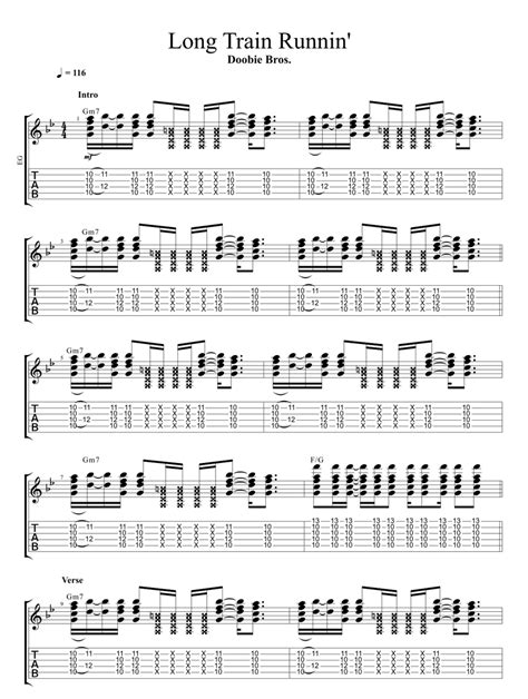 Doobie Brothers Long Train Runnin  Guitar Lesson
