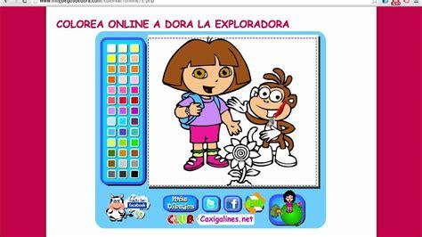 Dora la exploradora para colorear juego en línea   YouTube