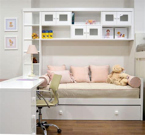Dormitorio con cama nido y puente blanco   El Pájaro ...