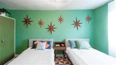 Dormitorio doble en tonos verdes   Decogarden