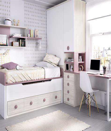 Dormitorio Juvenil con 2 camas, armario y escritorio Ref YH123