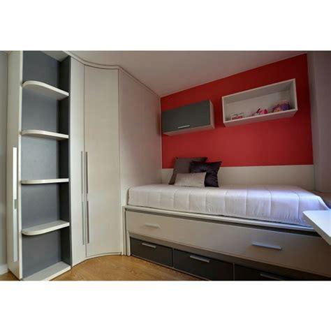 . Dormitorio juvenil con armario rinconero de gran ...