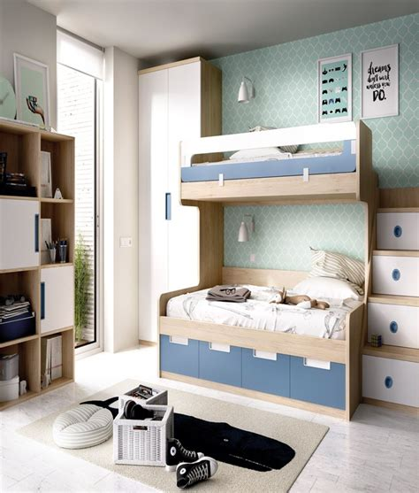 Dormitorio Juvenil con Litera con cama Matrimonial e ...