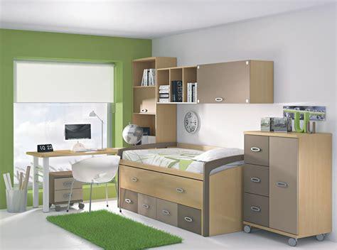 Dormitorio juvenil en verdes y marrones | Dormitorios ...