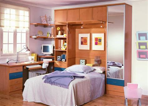 Dormitorio Juvenil funcional para pequenos espacios by ...