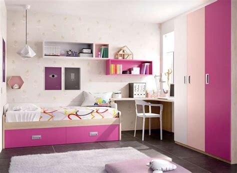 dormitorio juvenil niña cama con almacenaje y escritorio ...