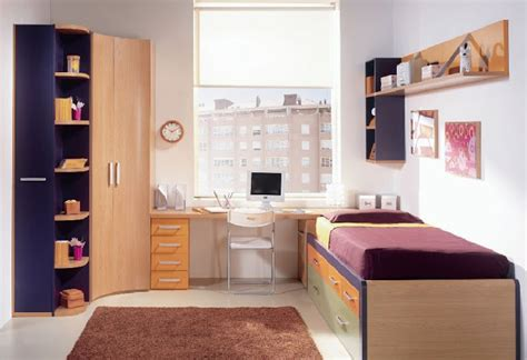 Dormitorio Juvenil para espacios pequeños con colores ...