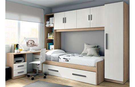 Dormitorio juvenil puente estilo moderno de melamina ...