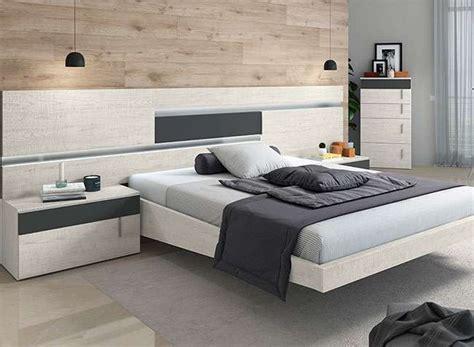 Dormitorio matrimonio moderno cabecero y 2 mesitas ...