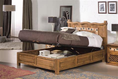 Dormitorio muebles rústicos de madera maciza: Camas ...