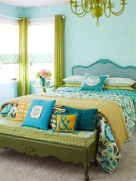 Dormitorios en color turquesa y verde   Ideas para decorar ...