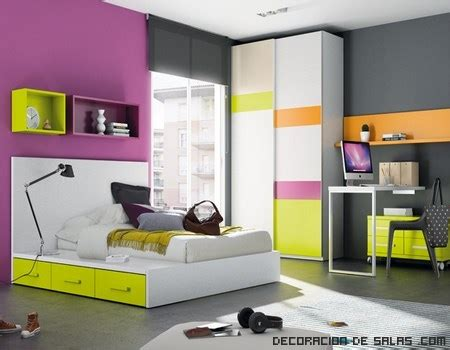 Dormitorios juveniles con camas tatami   DECORACIÓN DE SALAS