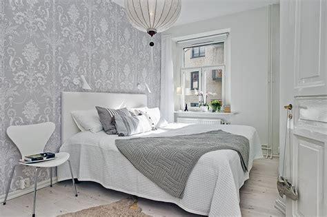 Dormitorios nórdicos con papel pintado