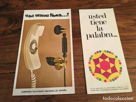 Dos catálogo publicitario de la compañía telefó   Vendido ...