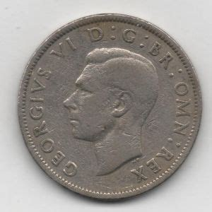 dos chelines  shillings  de Inglaterra de 1949, reinado de ...