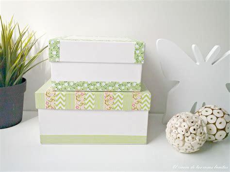 Dos ideas para decorar cajas   El rincón de las cosas bonitas