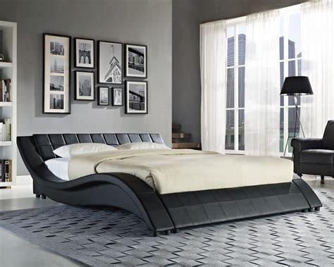 Double King Size Black White Bed Frame and with Memory ...