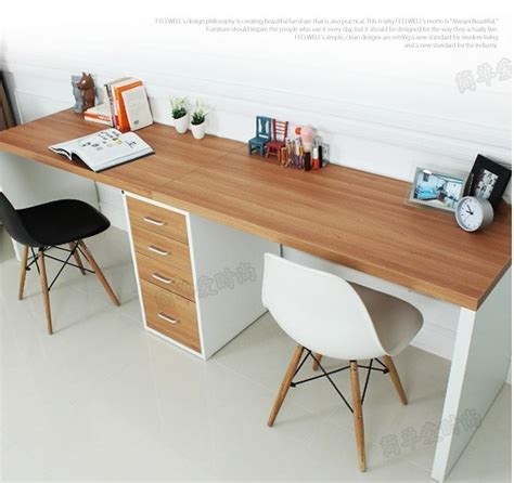 Double long table desk computer desk home desktop computer ...