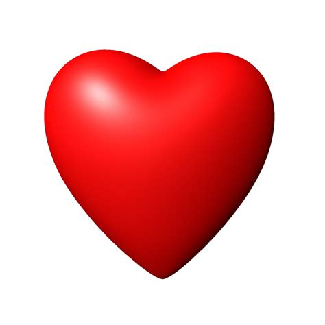 Download 3D Red Heart PNG Image For Designing Projects ...