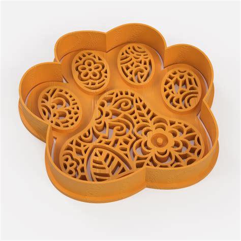 Download STL file dog fingerprint mandala cookie cutter ...