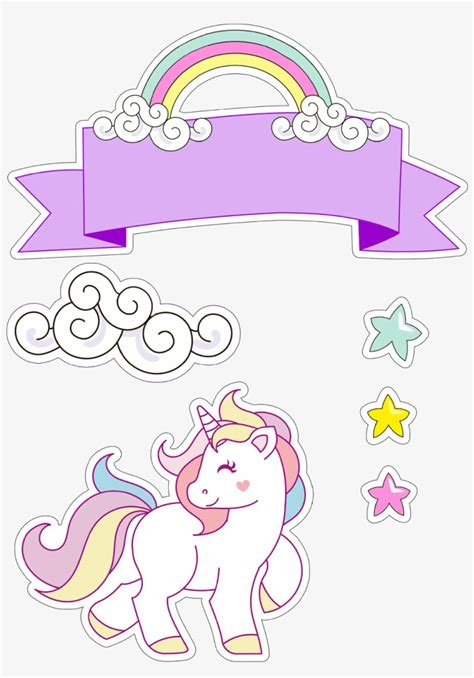 Download Unicorn Printables, Free Printables, Cake Toppers ...