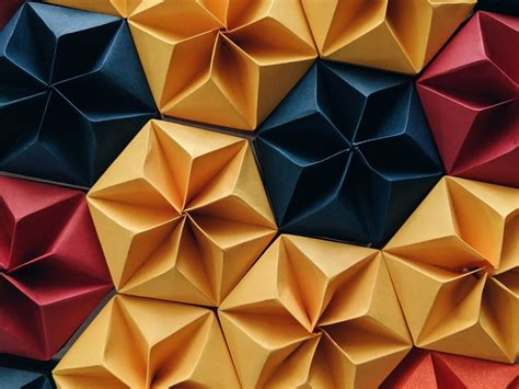 Download wallpaper 1600x1200 shapes, origami, paper ...