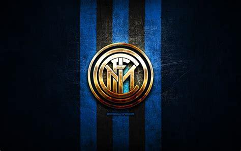 Download wallpapers Inter Milan FC, golden logo, Serie A ...