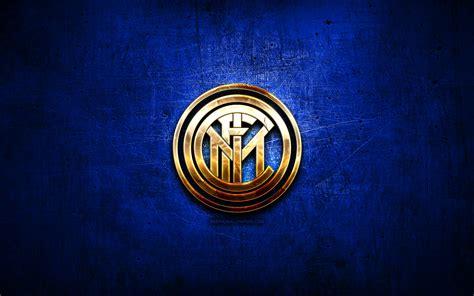 Download wallpapers Internazionale, golden logo, Serie A ...