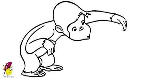 Draw Curious George   How to Draw Monkey   YouTube