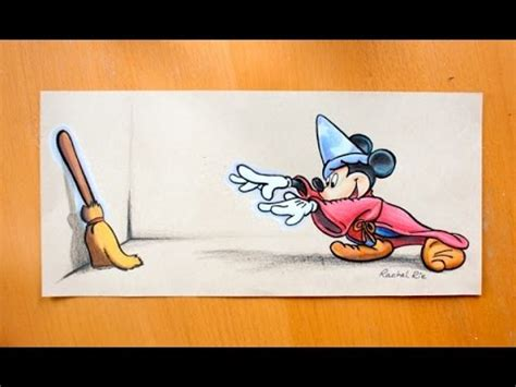 Drawing: Disney s Fantasia MICKEY MOUSE!!   YouTube