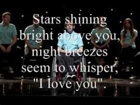 Dream A Little Dream Glee Lyrics   YouTube